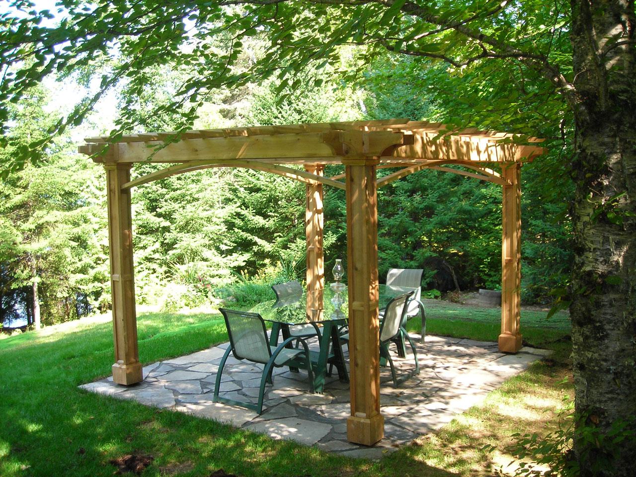 Structure de bois paysagiste envert et fils for Structure de bois
